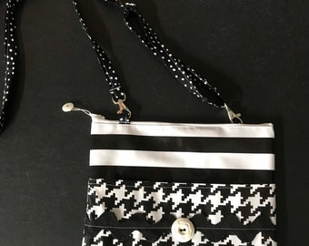 Funky two patterned oilclothcrossbody bag