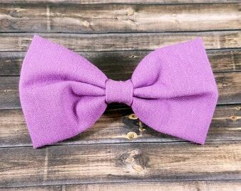 Lavender Hair Bow, Solid Lavender Hair Bow, Girls Hair Bow