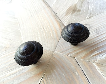 Large Black Cast Iron Drawer Pull for Farmhouse, Rustic and Industrial Home Decor and Furniture Hardware