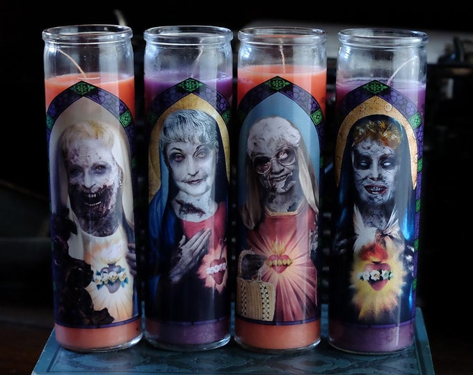 Zombie Saints of Miami Prayer Candle Set / Special Halloween Edition