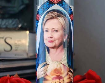 Saint Hillary Clinton Prayer Candle / Still with her