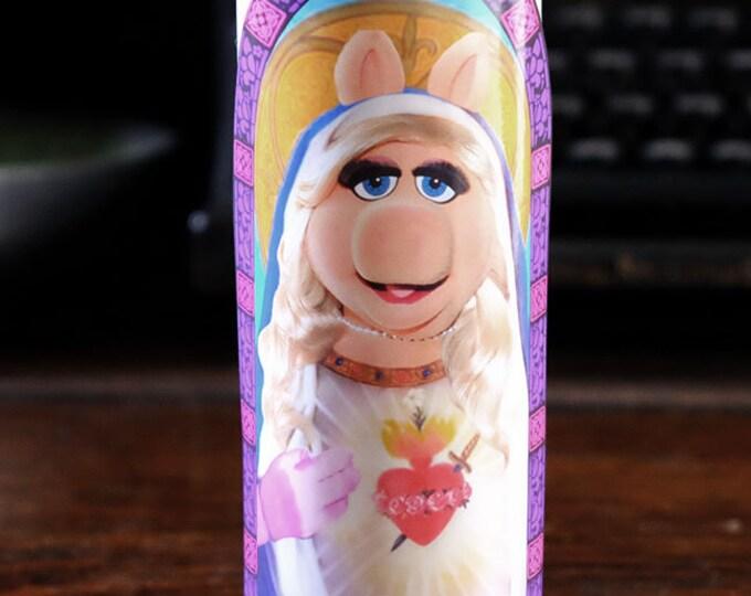 Saint Piggy Prayer Candle / Fan art / Parody art