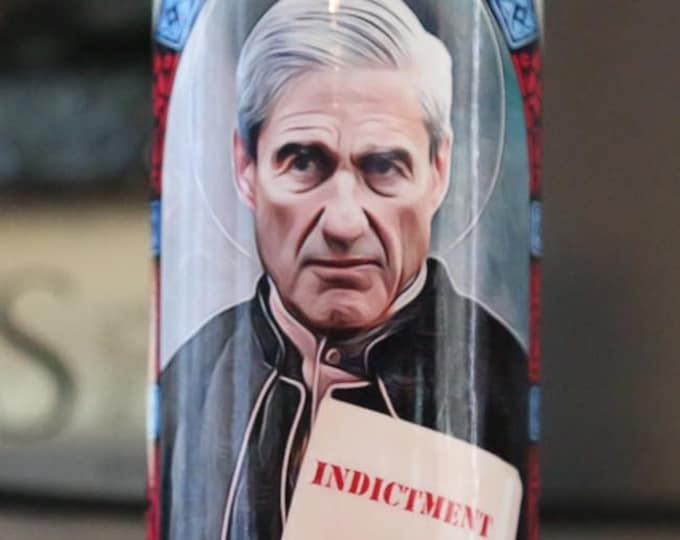 Patron Saint of Indictments Prayer Candle / Parody art / Fan art