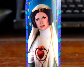 Saint Leia Prayer Candle / Princess Leia / Carrie Fisher