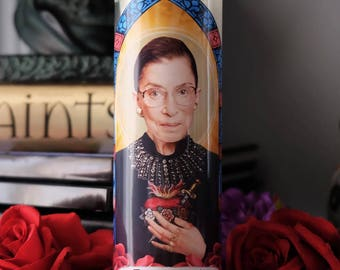 Saint Ruth Bader Ginsburg Prayer Candle / Notorious RBG / SCOTUS / Dissent