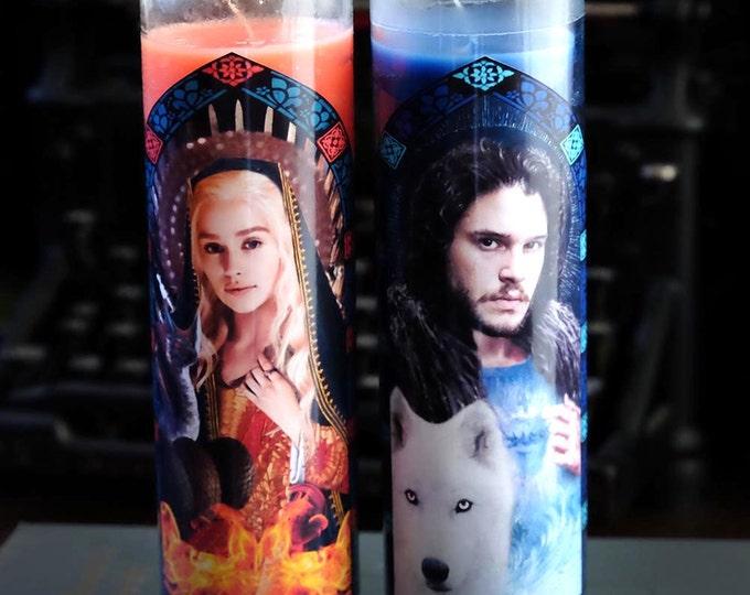 Patron Saints of Dragons and Winter Prayer Candles / Fan art / Parody art