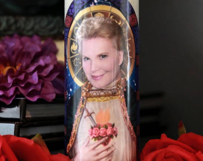 Saint Walter Mercado Prayer Candle / Shanti Ananda / Parody art / Fan art