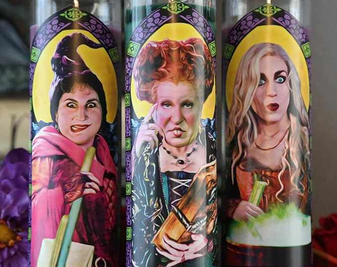 Patron Saints of the Black Flame Candle / Halloween / Sanderson Sisters / Fan art / Parody art