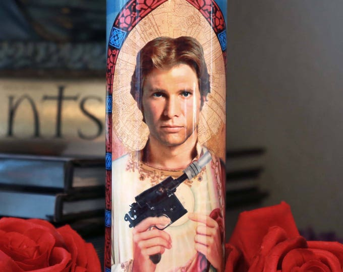 Patron Saint of Shooting First Prayer Candle / Fan art / Parody art