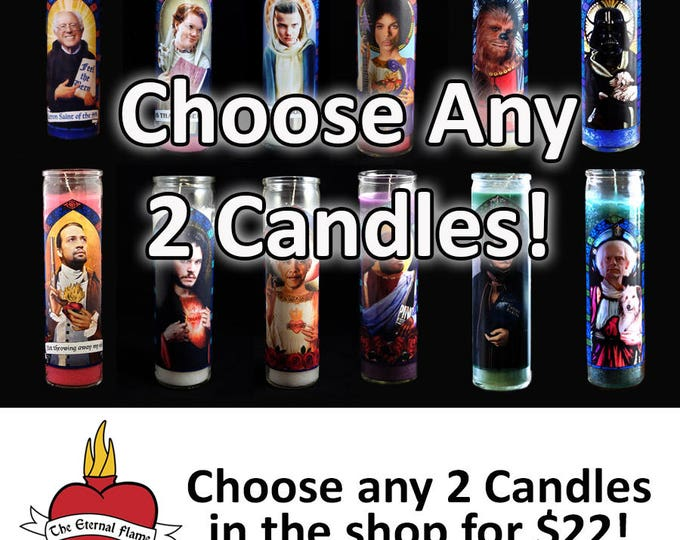 Choose any 2 prayer candles in the shop!