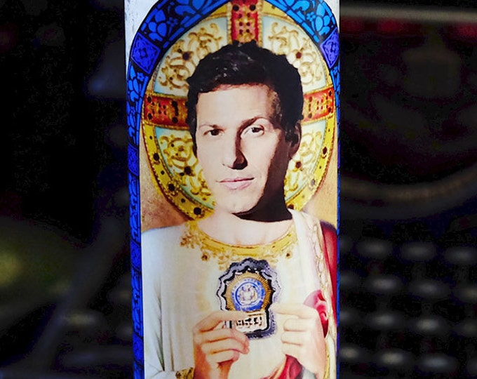 Patron Saint of Brooklyn Prayer Candle / Fan art / Parody art