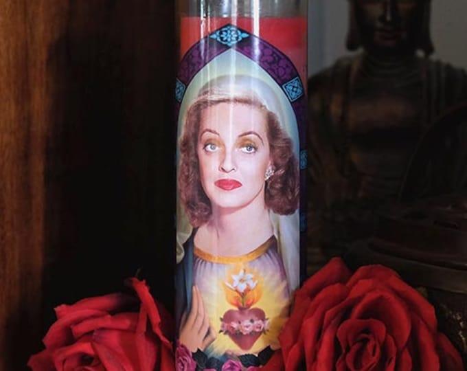 Saint Bette Prayer Candle / Bette Davis / All About Eve / Feud / Fan art / Parody art