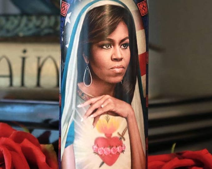 Saint Michelle Prayer Candle / Michelle Obama / FLOTUS / Parody art / Fan art