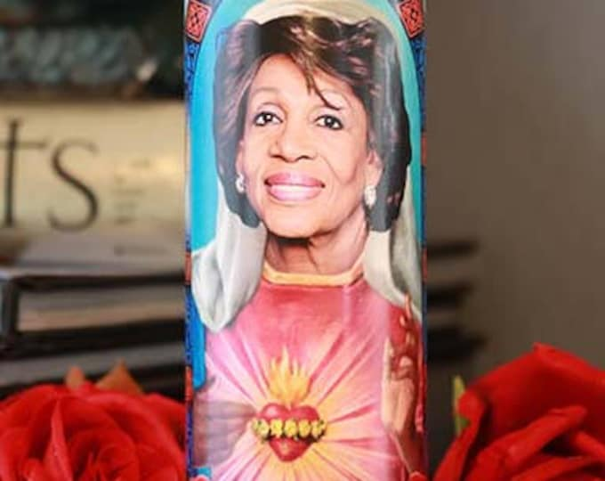 Saint Maxine Waters Prayer Candle / Parody art / Fan art