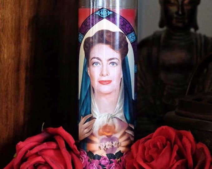 Saint Joan Prayer Candle / Joan Crawford / Mommie Dearest / Feud / Fan art / Parody art
