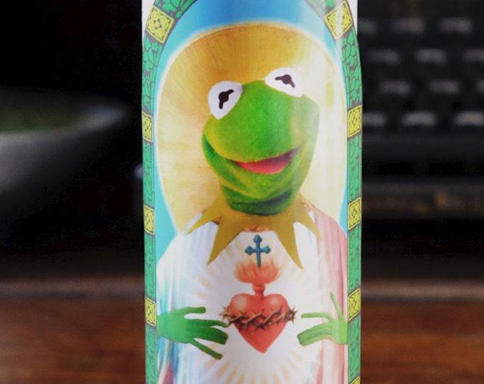 Saint Kermit Prayer Candle / Fan art / Parody art