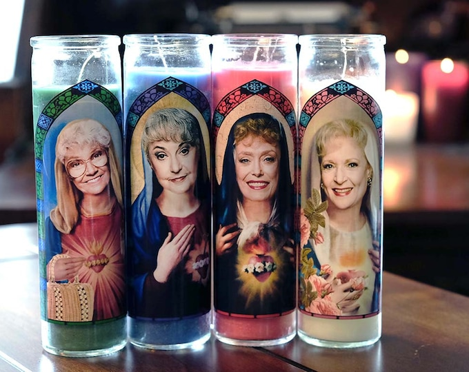 Patron Saints of Miami / Set of 4 / Dorothy, Rose, Sophia and Blanche / Parody art / Fan art
