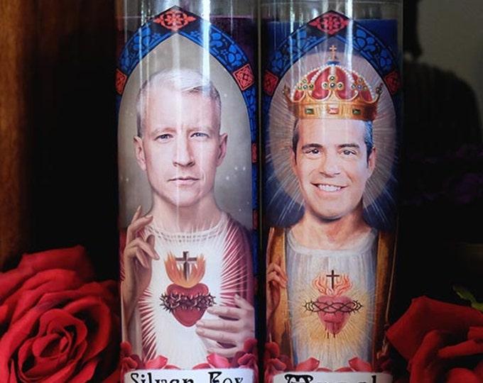 Patron Saints of Gay BFFs Prayer Candle Set / AC Squared / Fan art / Parody art