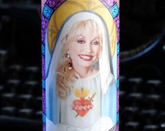 Saint Dolly Parton Prayer Candle