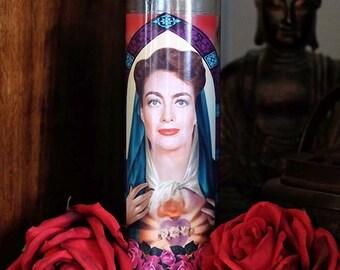 Saint Joan Prayer Candle / Joan Crawford / Mommie Dearest / Feud