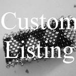 Custom White and Large Gold Diamond BB Rings