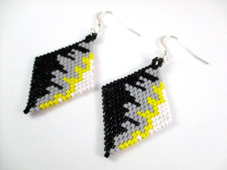 Abstract Diamond Weave Earrings image 0
