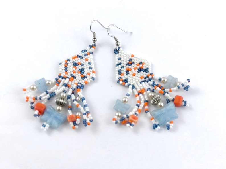 Short Butterfly Chandelier Earrings image 0