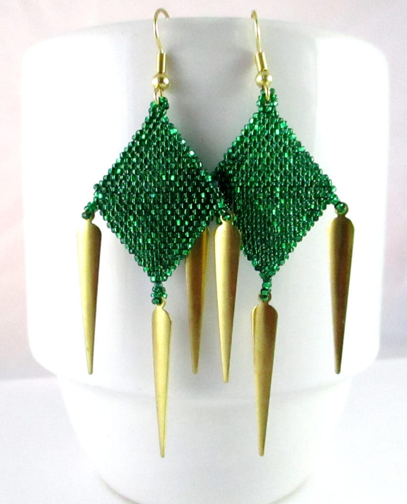 Diamond Dagger Chandelier Earrings image 0
