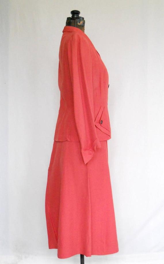 Authentic 1940s Ladies Rayon Suit Vintage Swansdo… - image 2