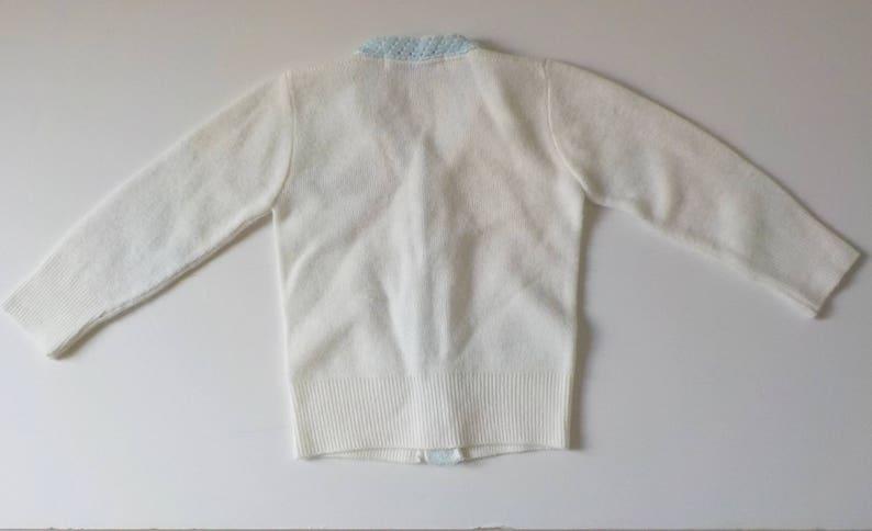 dc282eb92 Vintage Childs Cardigan Sweater Mid Century Orlon Acrylic