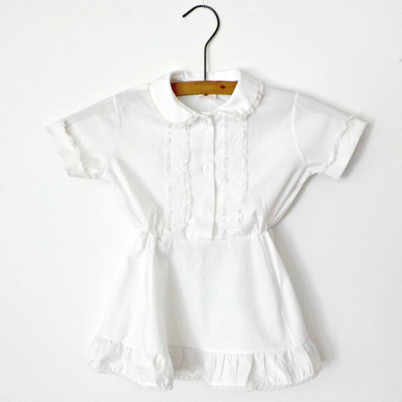 b8915e678 Vintage White Childs Dress Summer Toddler T 3 Her Majesty