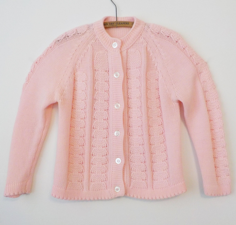 3032385cc Vintage Pink Cardigan Acrylic Sweater Granny Sweater