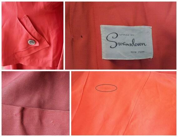 Authentic 1940s Ladies Rayon Suit Vintage Swansdo… - image 5