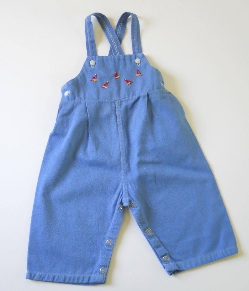 cf5f72e35 Vintage Toddler Blue Overalls Mid Century Jack   Janes Play