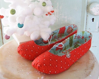 0790ca4c92485 Shoe Pattern PDF Mary Jane Flats Women's Size 5 to 11 | Etsy