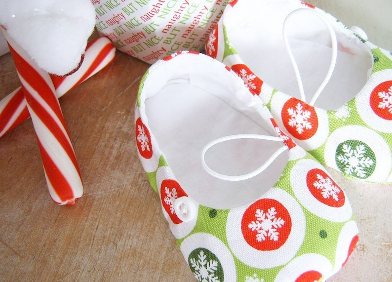 1c831cddf0779 Christmas Slippers. DIY Baby Shoe Pattern. Sale. Sewing Pattern PDF.  Vintage Flair Baby Bootie