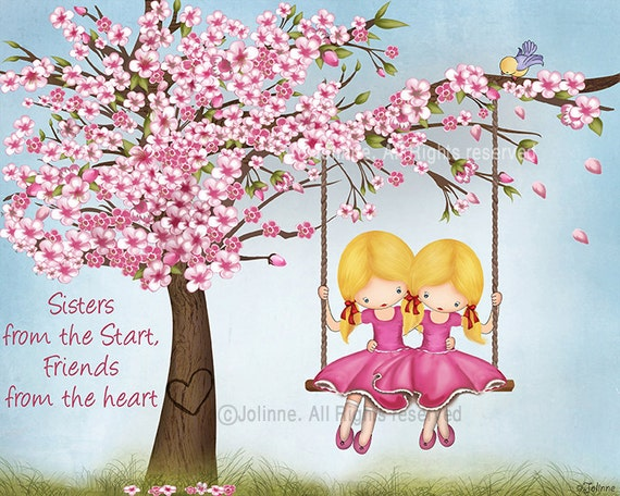 Picture For Sisters RoomCherry Blossom Wall ArtKids