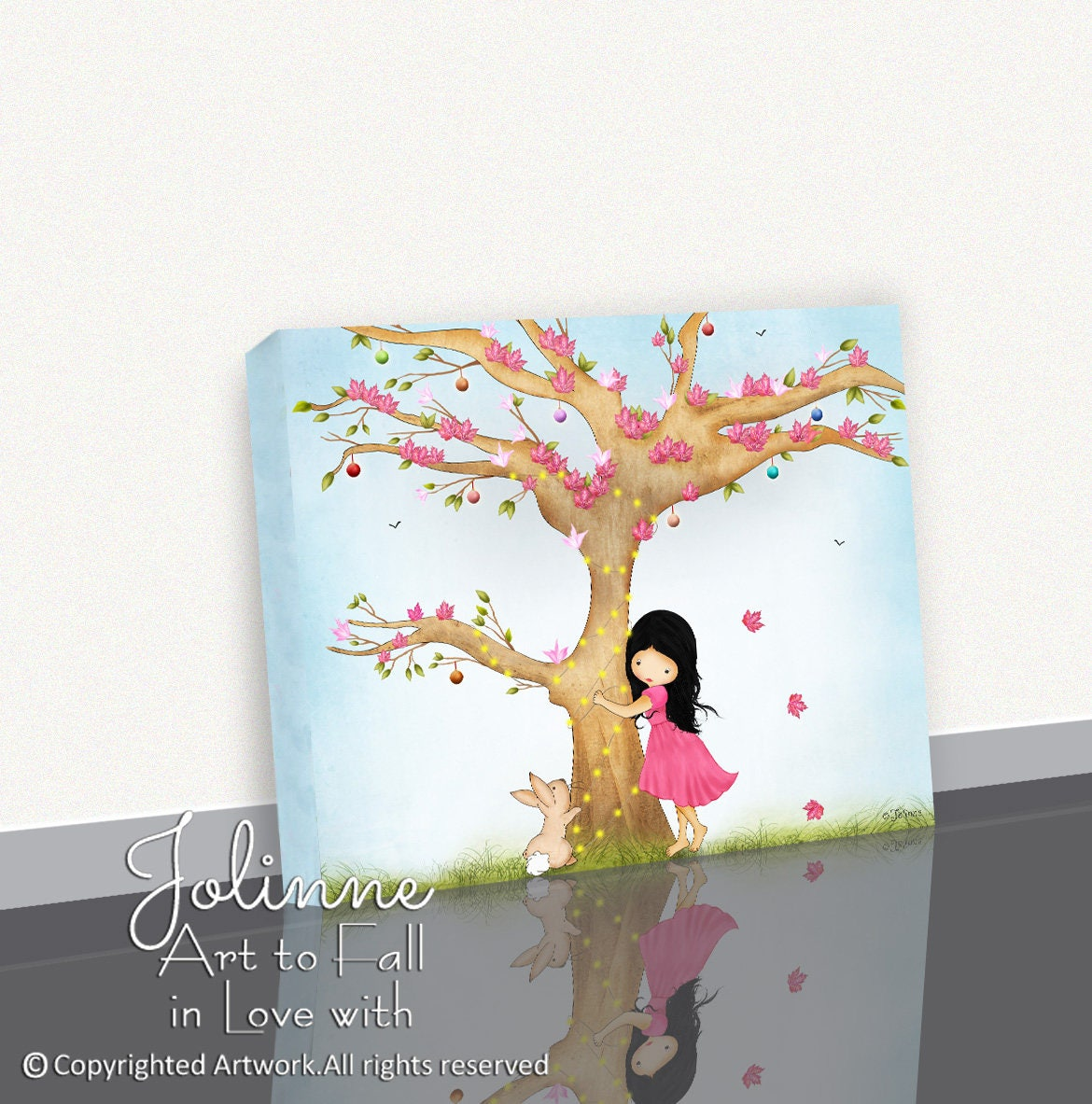 Canvas picture for little girls roomgirls bedroom canvas wall artartwork for the nurserytoddler room wall decorgift for newborn baby art