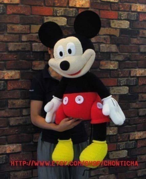Mickey Mouse 35 Inches Pdf Amigurumi Crochet Pattern Etsy