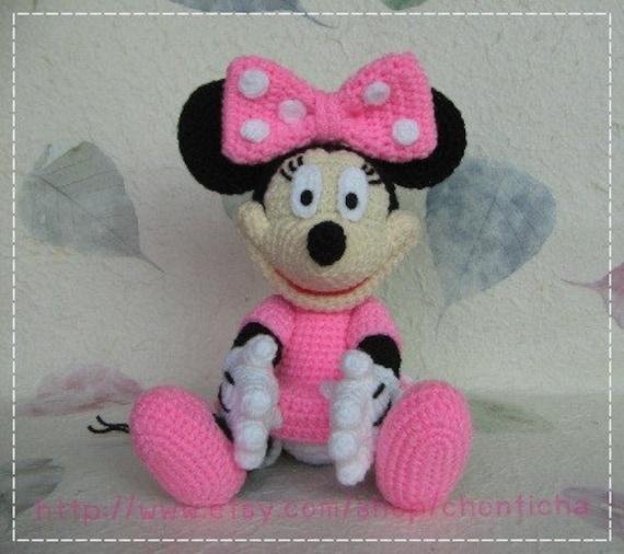Minnie Mouse 10 Inches Pdf Amigurumi Crochet Pattern Etsy
