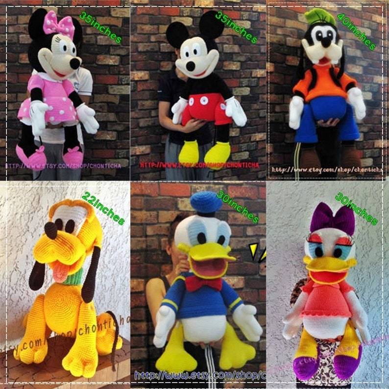 Mickey Mouse And The Gang 6patterns Amigurumi Crochet Etsy