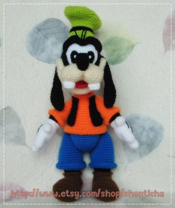 Goofy 12 Inches Pdf Amigurumi Crochet Pattern Etsy