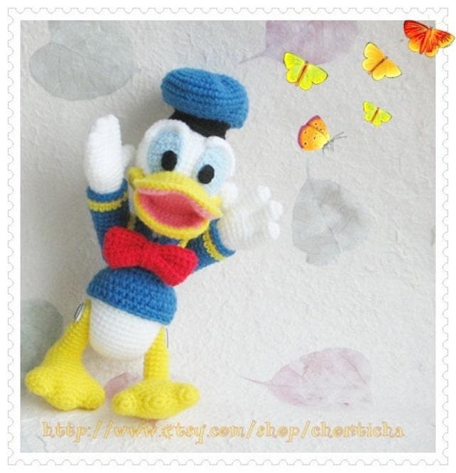 Donald Duck 8.5 inches PDF amigurumi crochet pattern | Etsy