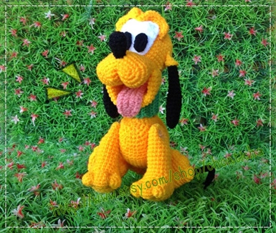 Pluto Dog 8inches Pdf Amigurumi Crochet Pattern Etsy