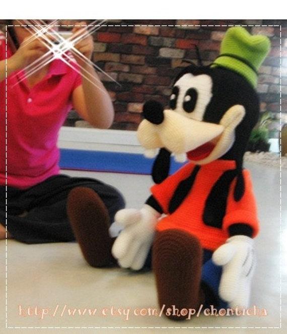 Goofy 40 Inches Pdf Amigurumi Crochet Pattern Etsy