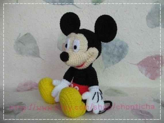 Mickey Mouse 10 Inches Pdf Amigurumi Crochet Pattern Etsy
