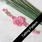 PDF Tatting Pattern Rosa Rose Bookmark - Intermediate - Instant Download