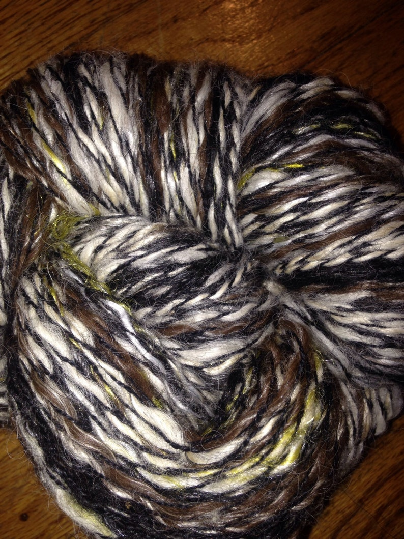 225 Yards Huacaya Alpaca 2-Ply yarn Chocolate Chip
