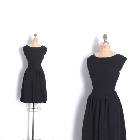 Vintage 1960s Dress / 60s Norman Norell Wool Crepe