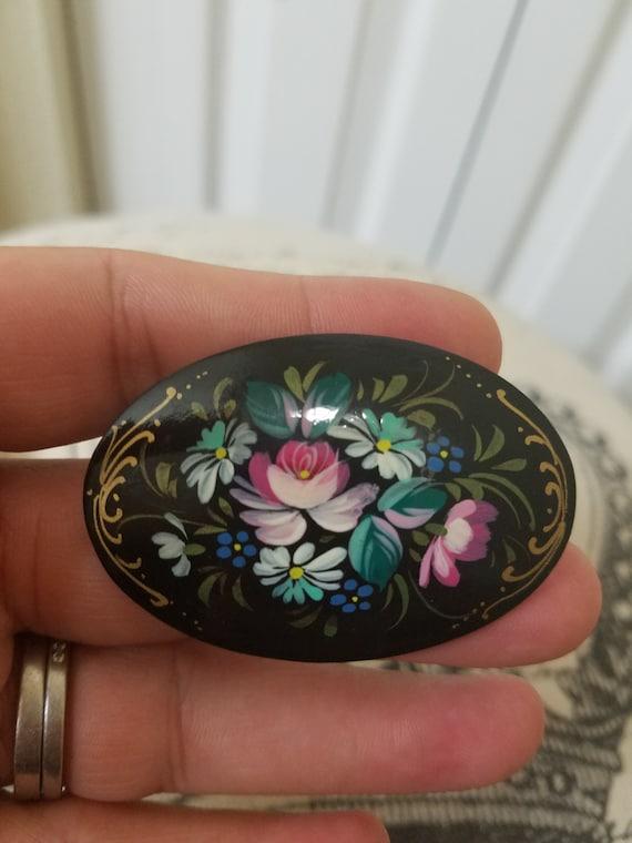 Unique and Beautiful Hand Painted Vintage black la